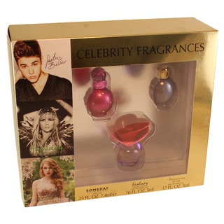 Celebrity Fragrance Collection Women's 3-piece Gift Set