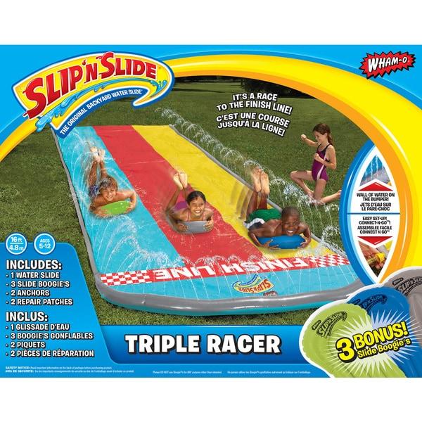 Triple Racer Slip Slide wBoogi