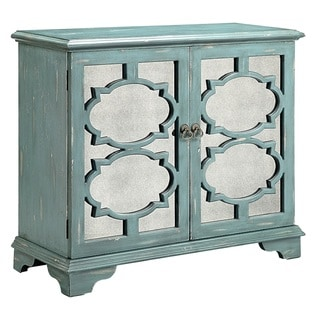 Candice Ocean Blue Accent Cabinet