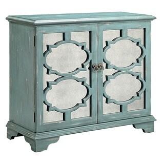 Candice Ocean Blue Accent Cabinet