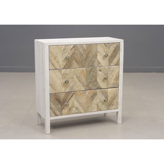 Darma White Three Drawer Accent Chest