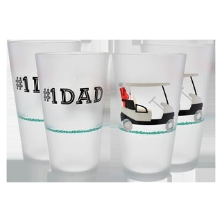 Culver Frosted #1 Dad 16-ounce Pint Glass (Pack of 4)