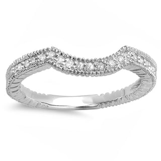 14k White Gold 1/6ct TDW White Diamond Anniversary or Wedding Stackable Band (H-I, I1-I2)