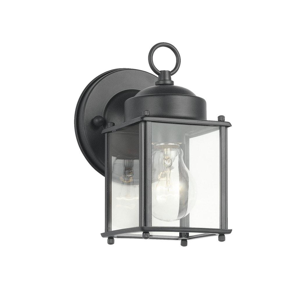Kichler Lighting Traditional 1 Light Black Outdoor Wall Lantern Overstock 11978249