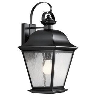 Kichler Lighting Mount Vernon Collection 1-light Black Outdoor Wall Lantern