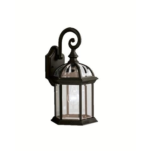 Kichler Lighting Barrie Collection 1-light Black Outdoor Wall Lantern