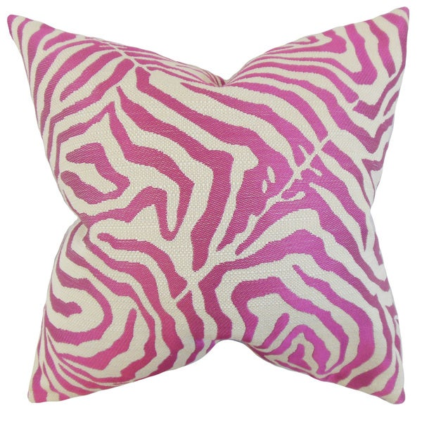 Oluchi Zebra Print Throw Pillow Cover - Free Shipping Today - Overstock.com - 18860280