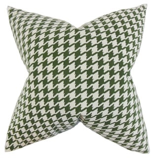 Presley Houndstooth Throw Pillow Cover Pine