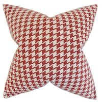 Presley Houndstooth Throw Pillow Cover