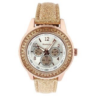 Rampage Women's RP1025RG Rose Gold-plated Strap Watch
