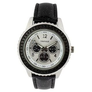 Rampage Ladies RP1025BK Black Strap Watch