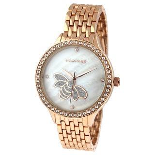 Rampage Ladies RP1126RG Stainless Steel, Crystal Bracelet Watch