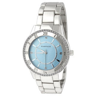 Rampage Women's RP1124SLLB Silver-plated Bracelet Watch