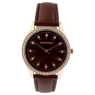 Rampage Ladies' RP1101RGBN Brown Strap Watch