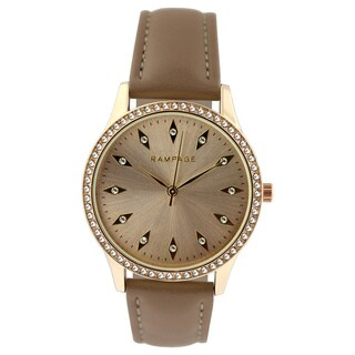 Rampage Ladie's RP1101GDTP Taupe Strap Watch