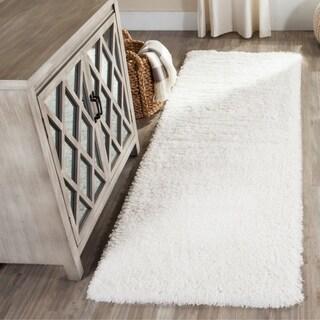 Safavieh Indie Shag White Polyester Rug (2' 3 x 7')