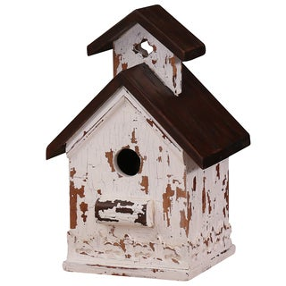 Bramble Co. Heavy Distressed White/ Brown Mahogany Bird House K