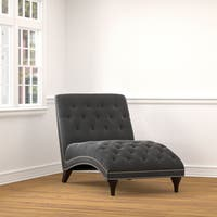 Carson Carrington Arvika Grey Velvet Snuggler Chaise