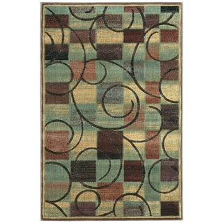 Nourison Expressions Brown Rug (2' x 2'9)