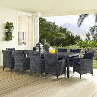 Invite 11-piece Outdoor Patio Sunbrella Dining Set