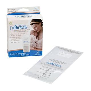 Dr. Brown's Plastic Breast Milk Storage Bags (Case of 25)