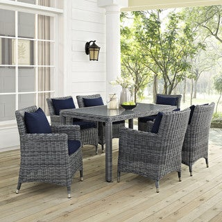 Modway Invite Sunbrella 7-piece Outdoor Patio Dining Set