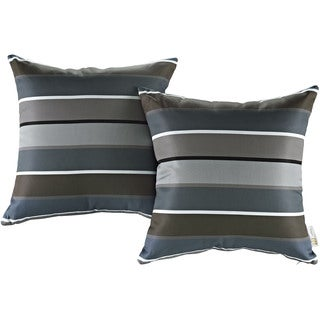 Modify Multicolored Polyester Water-resistant Throw Pillows (Set of 2)
