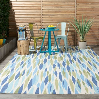 Waverly Sun N' Shade Bits & Pieces Seaglass Area Rug by Nourison (4'3 x 6'3)