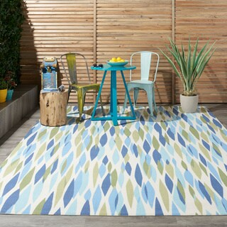 Waverly Sun N' Shade Bits and Pieces Seaglass Indoor/ Outdoor Rug by Nourison - 4'3 x 6'3