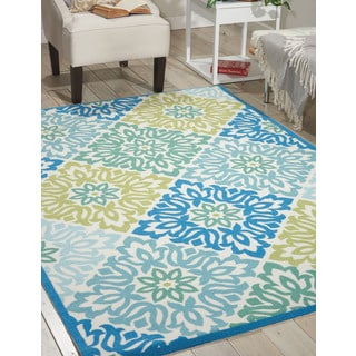 Waverly Sun N' Shade Sweet Things Blue Area Rug by Nourison (4'4 x 6'11)