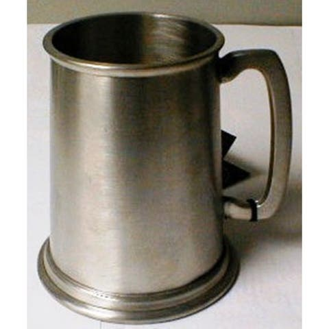 Heim Concept Sheffield Pewter 19oz. Brushed Finish Tankard with Metal Bottom