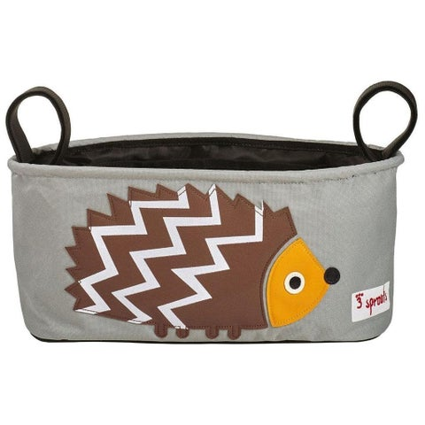 3 Sprouts Brown Polyester Hedgehog Stroller Organizer