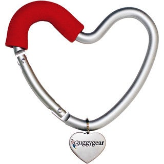 Buggygear Red Stainless Steel Buggy Heart Hook