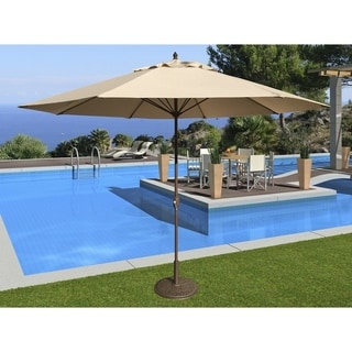 Tropishade 11' Aluminum patio umbrella with Beige Olefin Cover