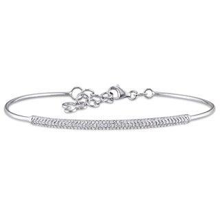 Miadora 14k White Gold 2/5ct TDW Diamond Bangle Bracelet (G-H, I1-I2)