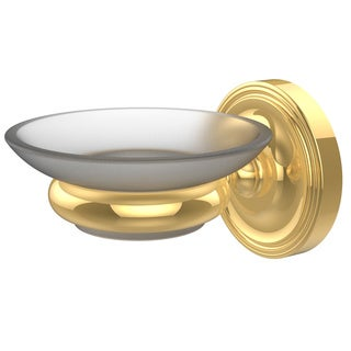 Alllied Brass Prestige Regal Collection Clear Brass Wall-mounted Soap Dish