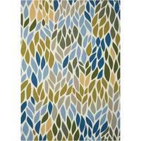 Nourison Home and Garden Multicolor Indoor/ Outdoor Area Rug (5'3 x 7'5) - 5'3 x 7'5