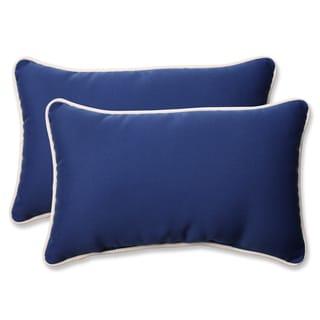 Pillow Perfect Outdoor/ Indoor Americana Blue Throw Pillow (Set of 2)