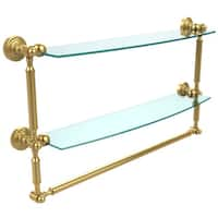 Allied Brass Waverly Place Collection Two-tiered Glass Shelf and Towel Bar