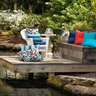 Pillow Perfect Outdoor/ Indoor Rave Indigo Wicker Seat Cushion (Set of 2)