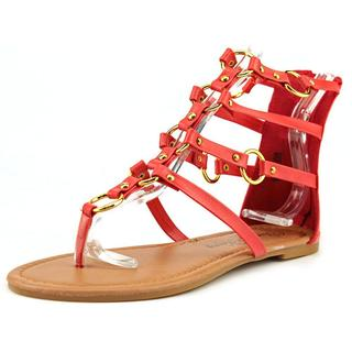 Penny Loves Kenny Women's Matrix Red Faux Leather Sandals