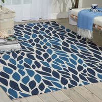 Nourison Home and Garden Blue Rug - 4'4 x 6'3