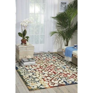 Nourison Home and Garden Multicolor Rug (4'4 x 6'3)