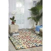 Nourison Home and Garden Multicolor Indoor/ Outdoor Rug (4'4 x 6'3) - 4'4 x 6'3