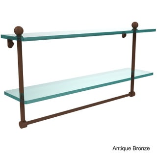 Allied Brass Glass 22-inch Two-tiered Shelf With Integrated Towel Bar (More options available)