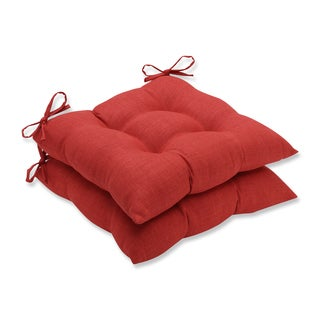 Pillow Perfect Outdoor/ Indoor Rave Flame Wrought Iron Seat Cushion (Set of 2)