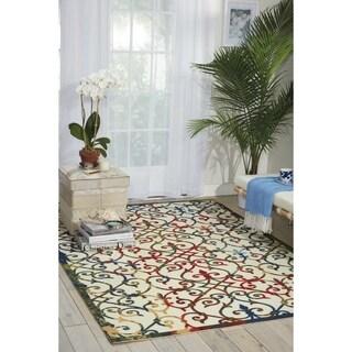 Nourison Home and Garden Multicolor Indoor/ Outdoor Rug (5'3 x 7'5)