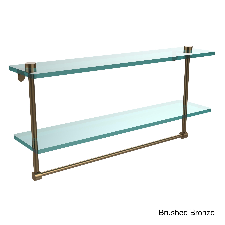 Allied Brass Clear Glass Two Tiered Glass Shelf With