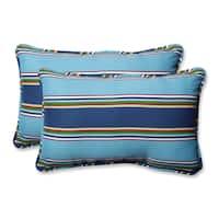 Pillow Perfect Outdoor/ Indoor Bonfire Regata Throw Pillow (Set of 2)