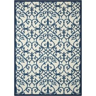 Nourison Home and Garden Blue Indoor/ Outdoor Rug (5'3 x 7'5)